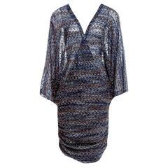 Stunning Missoni Lurex Kaftan Tunic Cover Up Mini Dress