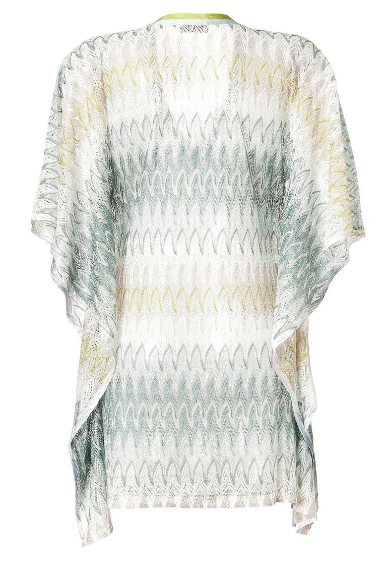 This Missoni kaftan is made from its signature crochet-knit in multiple shades - so will work with almost any bikini you slip it over. Perfect for your next vacation, it's crease-resistant and takes up next to no space when folded.  Sold out