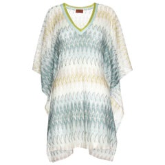 Stunning Missoni Signature Chevron Crochet Knit Kaftan Tunic Cover Up Dress