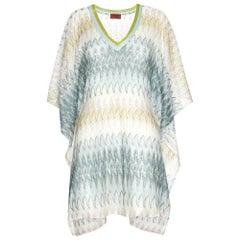 Stunning Missoni Signature Chevron Crochet Knit Kaftan Tunic Top Cover Up