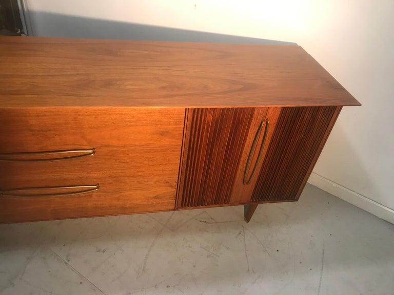 Stunning Modernist Walnut and Brass Dresser by Helen Hobey Baker For Sale 1