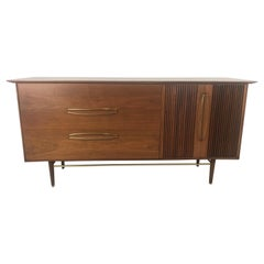 Stunning Modernist Walnut and Brass Dresser by Helen Hobey Baker