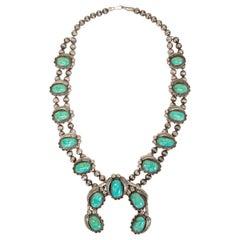 Stunning Morenci Turquoise Squash Blossom
