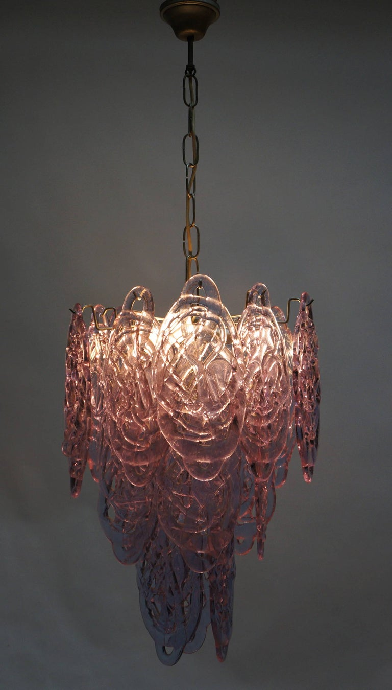 Mid-Century Modern Stunning Murano Glass Chandelier by Carlo Nason for Mazzega For Sale