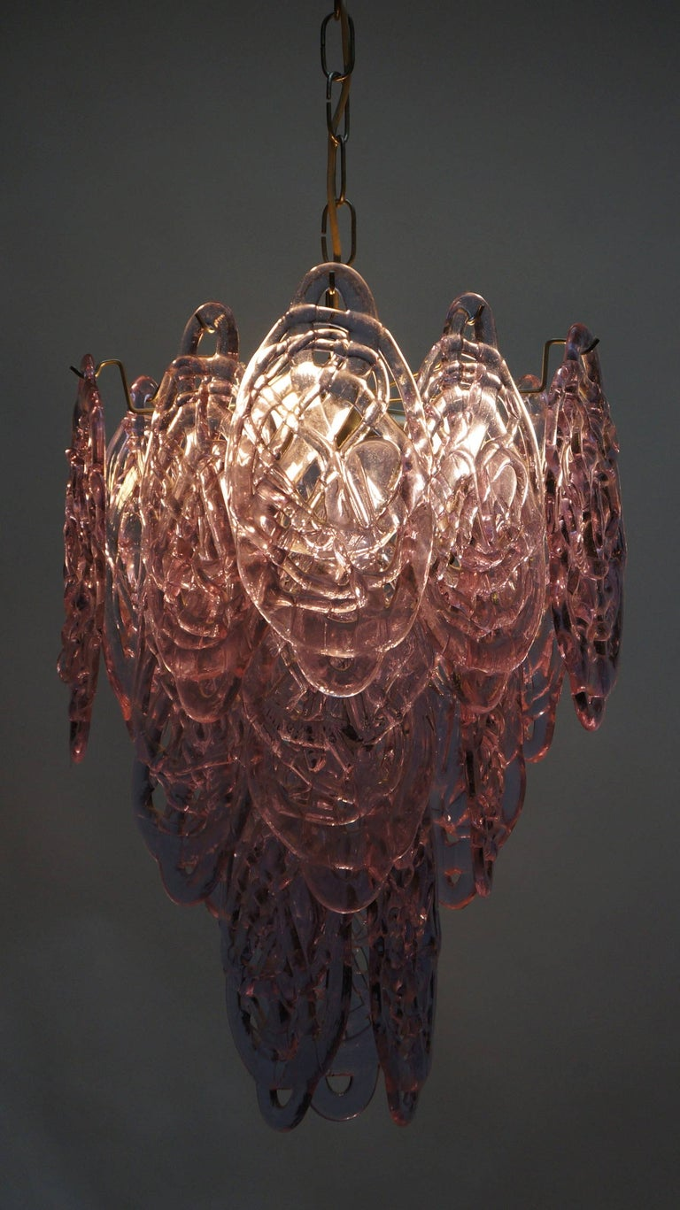 20th Century Stunning Murano Glass Chandelier by Carlo Nason for Mazzega For Sale