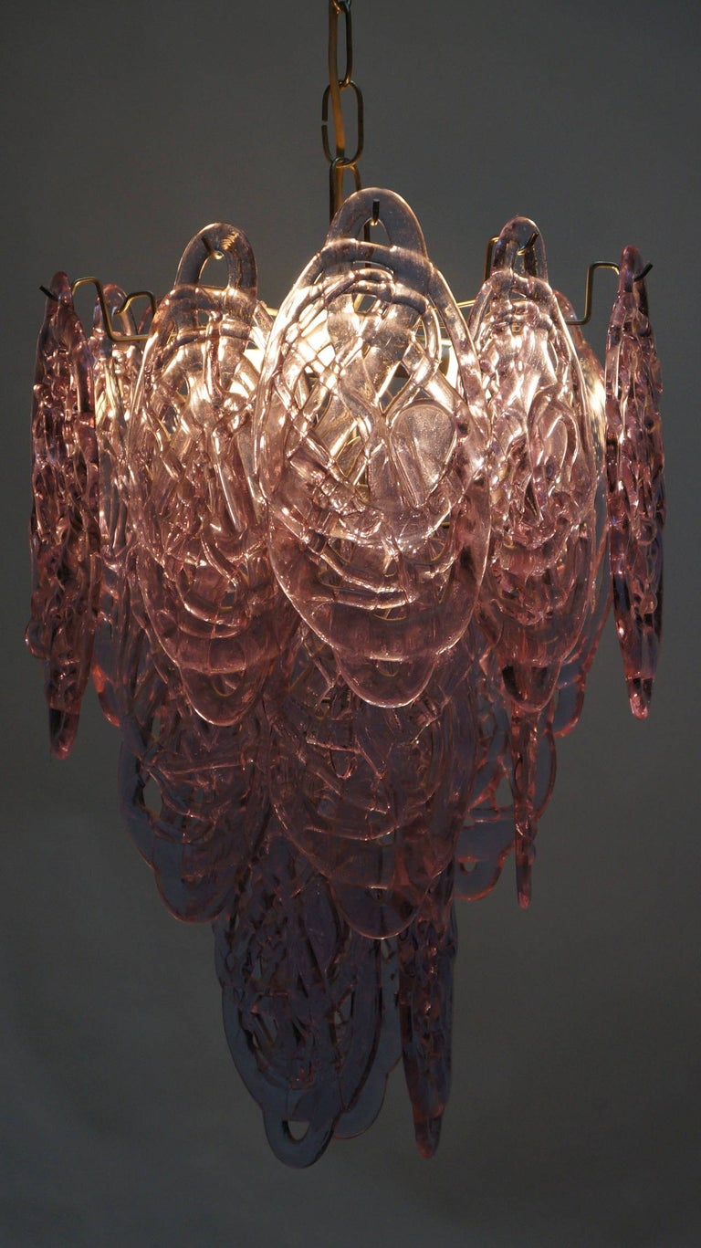 Stunning Murano Glass Chandelier by Carlo Nason for Mazzega For Sale 1