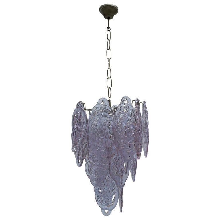 Stunning Murano Glass Chandelier by Carlo Nason for Mazzega For Sale