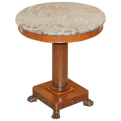 Stunning Napoleon III French Empire Revival Occasional Centre Table Marble Top