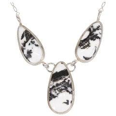 Stunning Navajo White Buffalo Turquoise Necklace