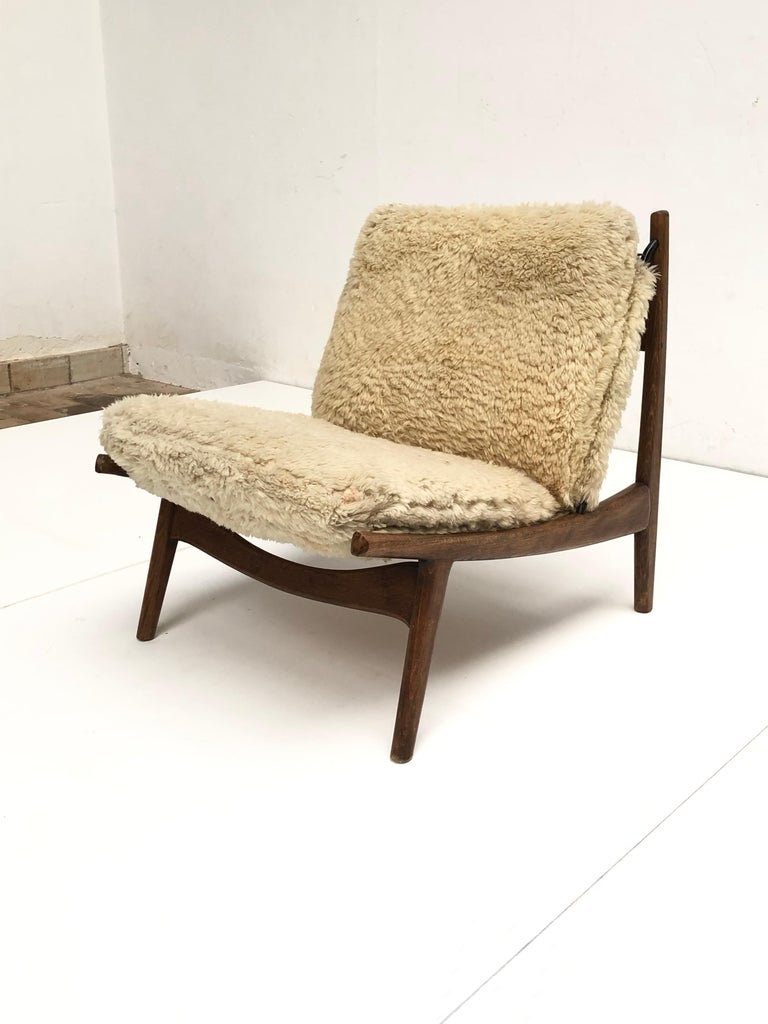 Stunning Organic Form '790' Lounge Chair by J.A Motte for Steiner, France, 1960 For Sale 3
