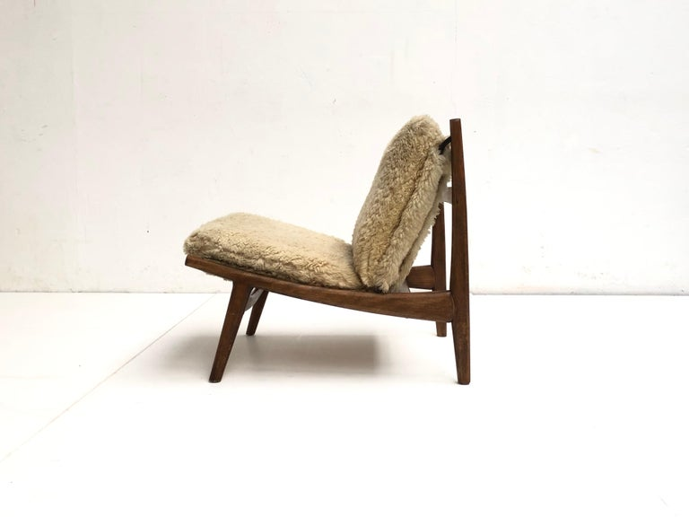 Organic Modern Stunning Organic Form '790' Lounge Chair by J.A Motte for Steiner, France, 1960 For Sale