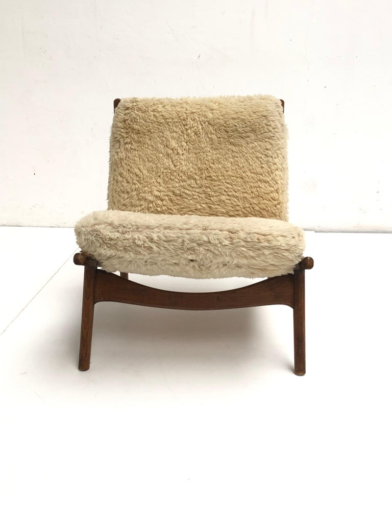 Stunning Organic Form '790' Lounge Chair by J.A Motte for Steiner, France, 1960 In Good Condition For Sale In bergen op zoom, NL
