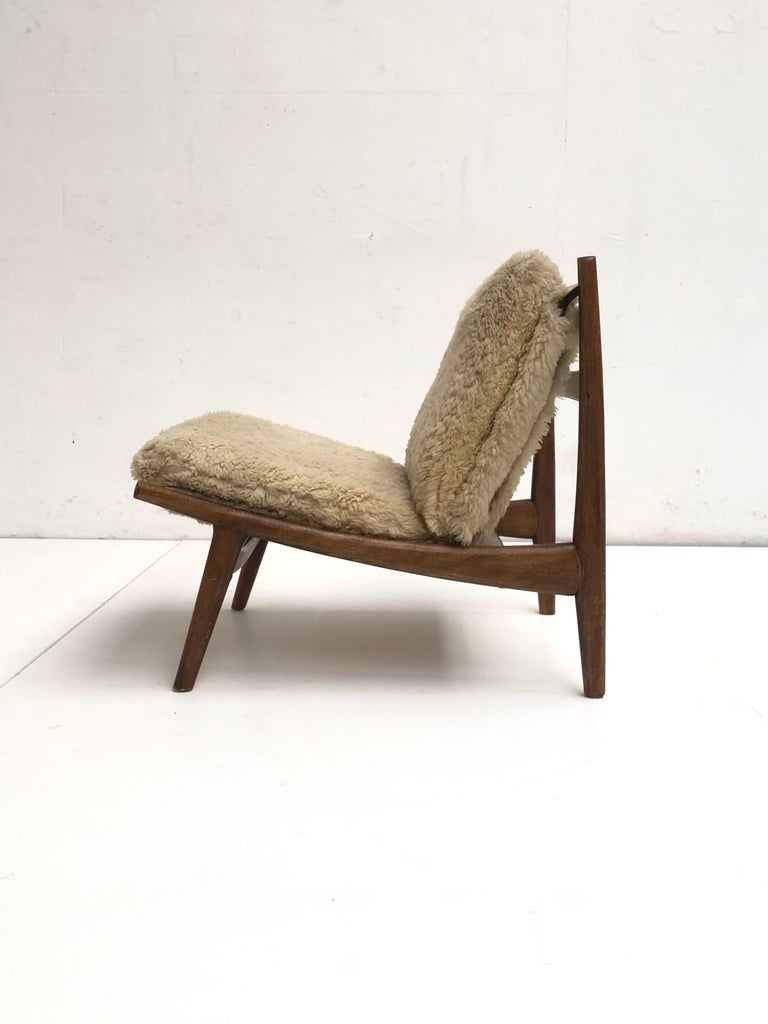 Stunning Organic Form '790' Lounge Chair by J.A Motte for Steiner, France, 1960 For Sale 1