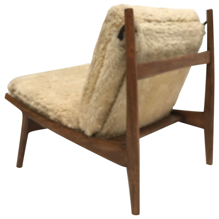 Stunning Organic Form '790' Lounge Chair by J.A Motte for Steiner, France, 1960 For Sale