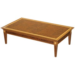 Stunning Original David Linley Burr Walnut Large Coffee Cocktail Table