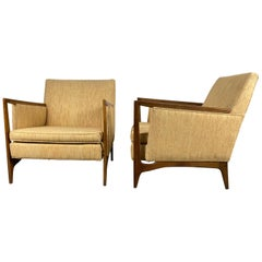 Stunning Pair of Mid-Century Modernist Lounge Chairs Attributed to Dux of Sweden