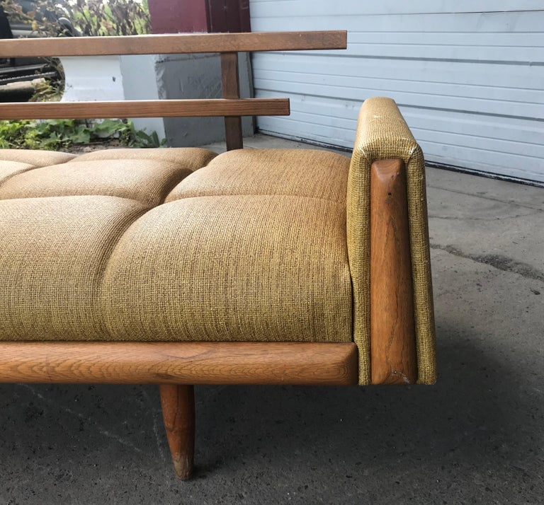 Modernist Button Tufted Daybed Attributed to Adrian Pearsall For Sale 5