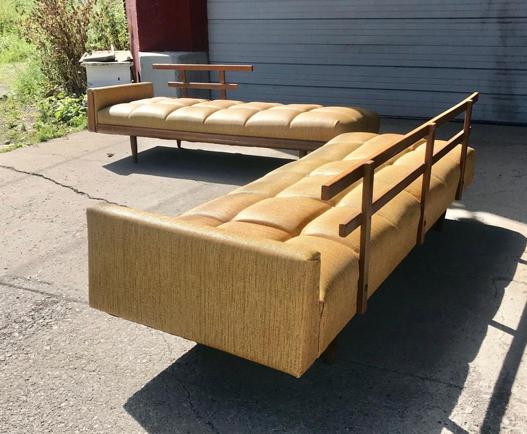 Mid-Century Modern  Modernist Button Tufted Daybed Attributed to Adrian Pearsall For Sale