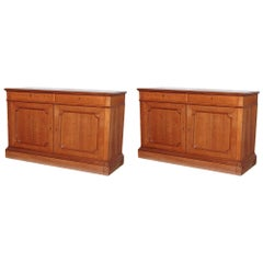 Stunning Pair of 19th Century French Oak Cabinets