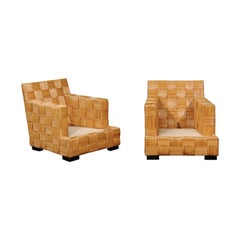 Stunning Pair of Block Island Club Chairs by John Hutton for Donghia