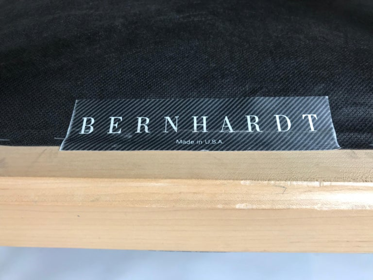 Stunning Pair of Contemporary Modern Birch Arm Chairs, Bernhardt Furniture Co. For Sale 7