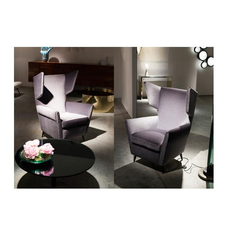 Stunning Pair of Italian Lounge Chairs by Gio Ponti For Sale 1
