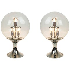 Stunning Pair of Sputnik Table Lamp by Doria, Germany, 1970s