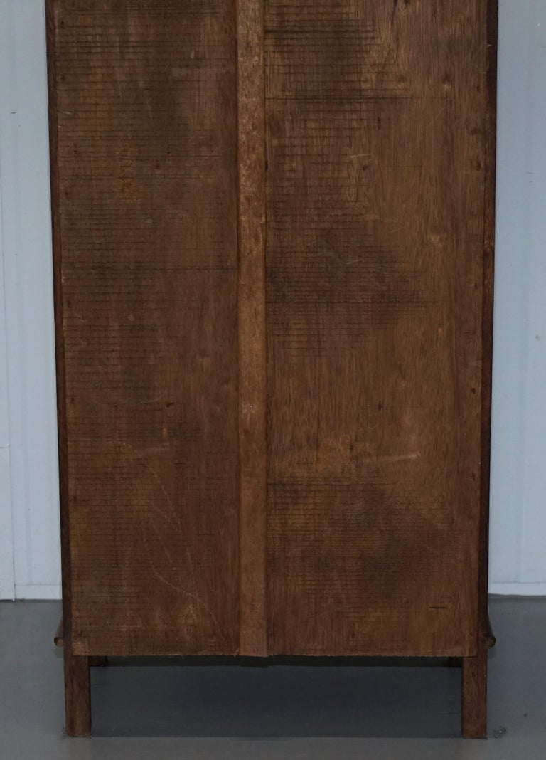 Stunning Pair of Steeple Top Solid Wood Bookcases Very Decorative Matching Set For Sale 7