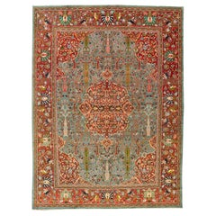 Stunning Paradise Motif Persian Ferehan Carpet