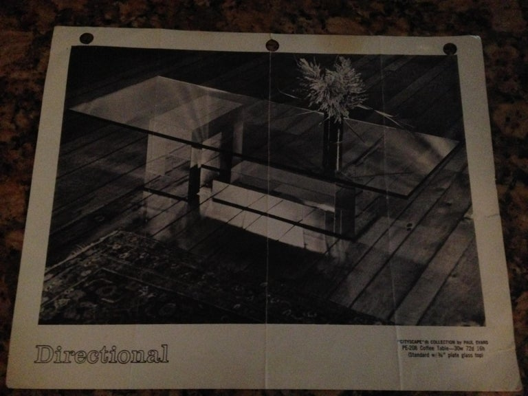 Stunning Paul Evans Cityscape Brass Chrome Patchwork Coffee Table Directional For Sale 12