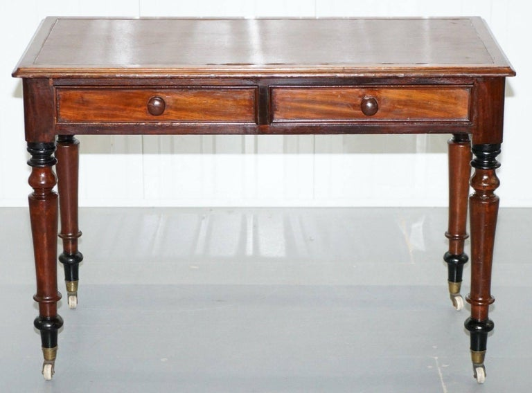 We are delighted to offer for sale this lovely period Victorian handmade in England mahogany writing desk
