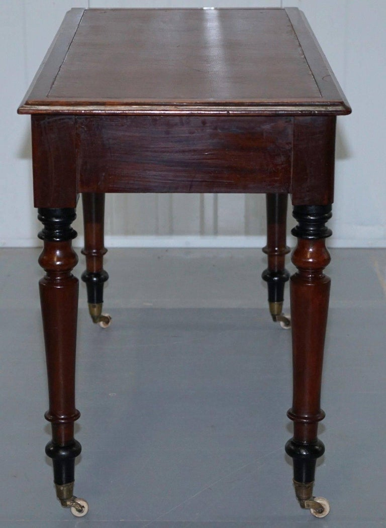 Stunning Period Victorian Mahogany Writing Desk 1860 Lovely Function Piece For Sale 1