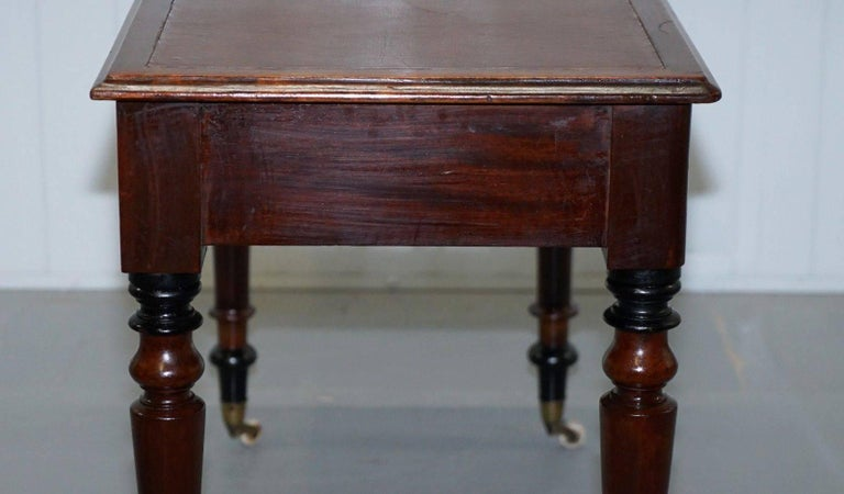 Stunning Period Victorian Mahogany Writing Desk 1860 Lovely Function Piece For Sale 2