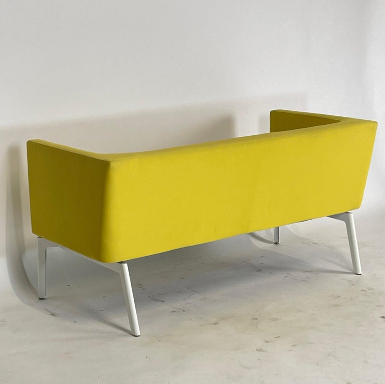 Stunning Pop Art Postmodern Yellow Sofa Settee or Loveseat by Steelcase 3
