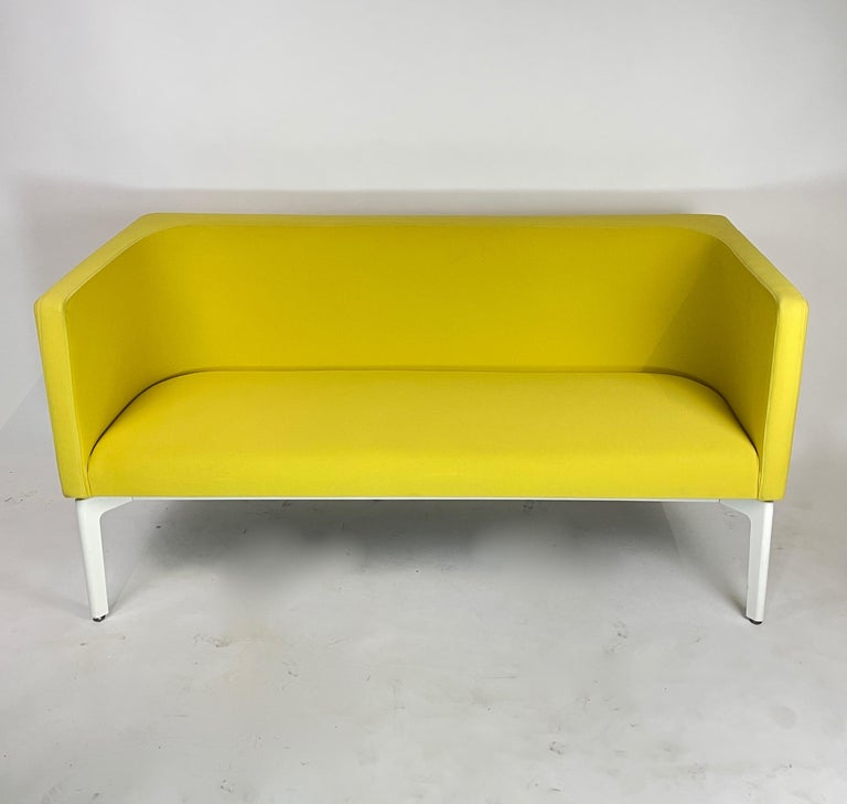 Yellow Steelcase Postmodern style sofa. This listing is for the yellow sofa in the photos. This piece is incredible comfortable and heavy in weight. Perfect for residential or commercial applications.