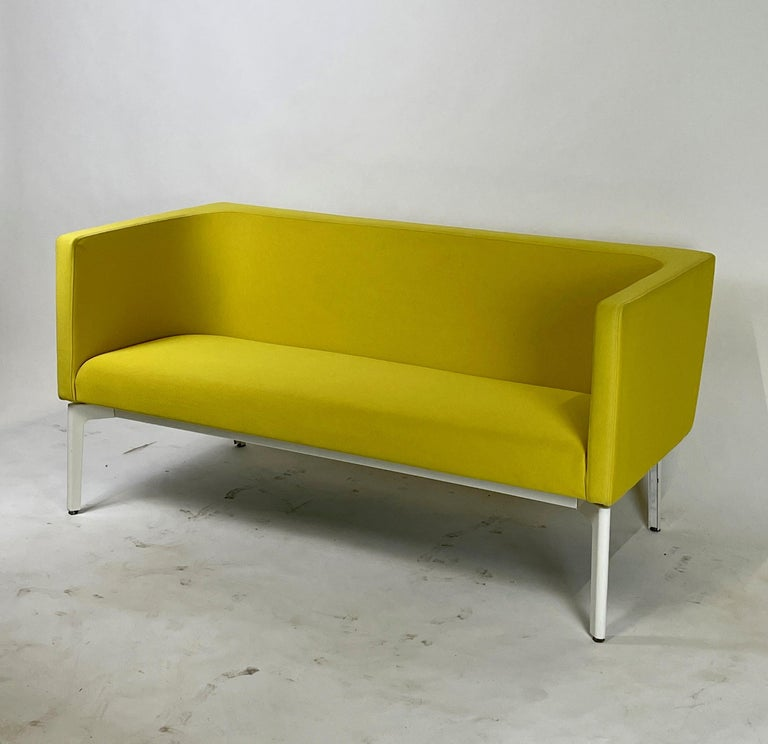 Post-Modern Stunning Pop Art Postmodern Yellow Sofa Settee or Loveseat by Steelcase