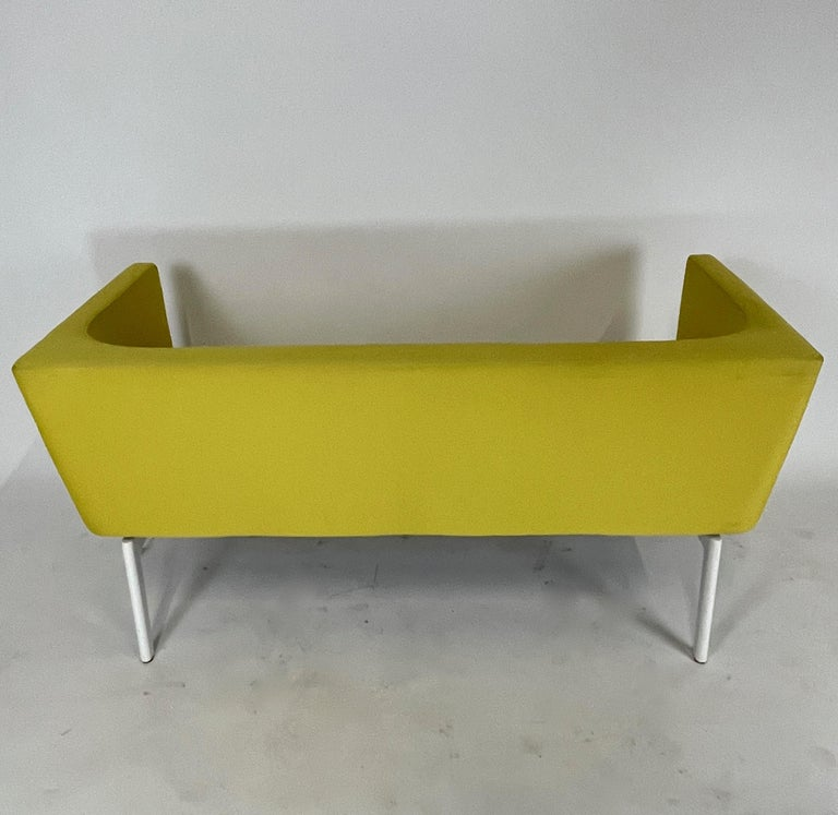 Stunning Pop Art Postmodern Yellow Sofa Settee or Loveseat by Steelcase In Good Condition In Hudson, NY