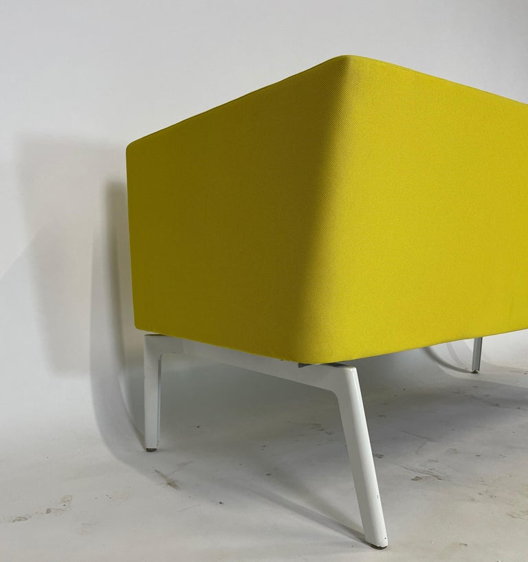 Contemporary Stunning Pop Art Postmodern Yellow Sofa Settee or Loveseat by Steelcase