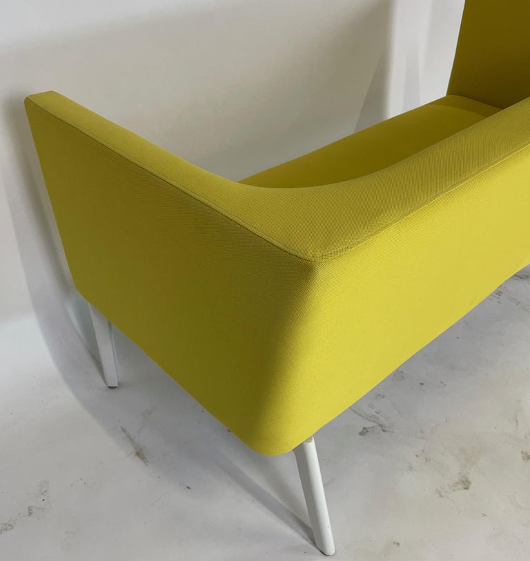 Stunning Pop Art Postmodern Yellow Sofa Settee or Loveseat by Steelcase 1