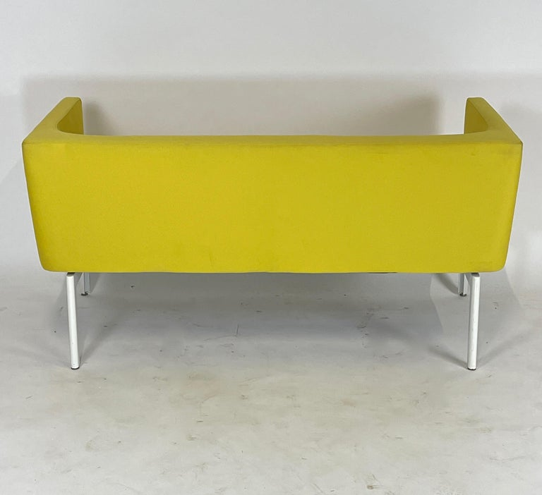 Stunning Pop Art Postmodern Yellow Sofa Settee or Loveseat by Steelcase 2