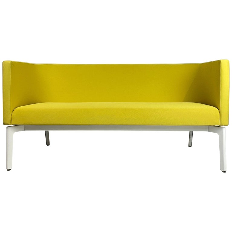 Stunning Pop Art Postmodern Yellow Sofa Settee or Loveseat by Steelcase