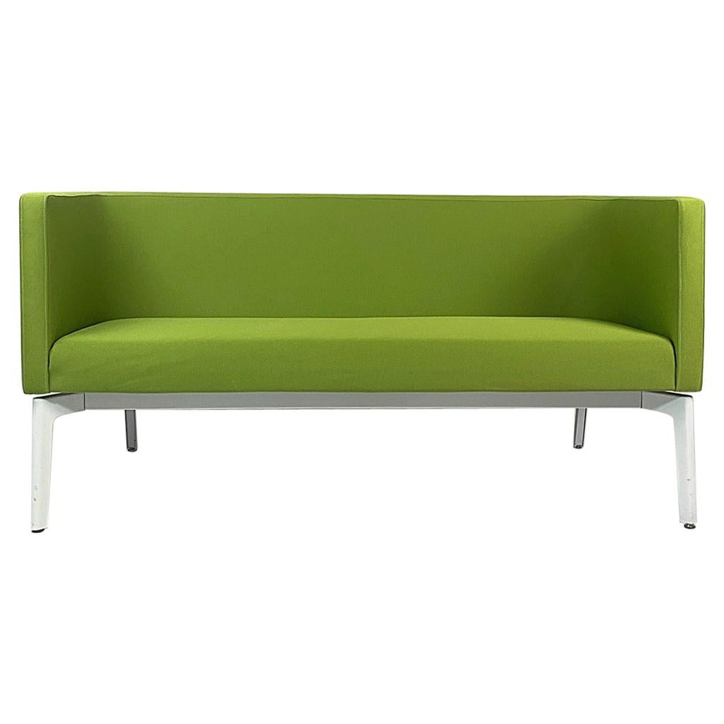 Stunning Postmodern Green Sofa Settee by Steelcase