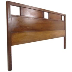 Stunning Queen Size Midcentury R-Way Walnut Headboard