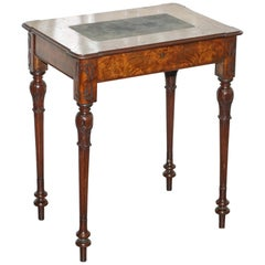 Stunning Rare Early Victorian Burr Walnut Games Table Lift Top Fret Work Carved