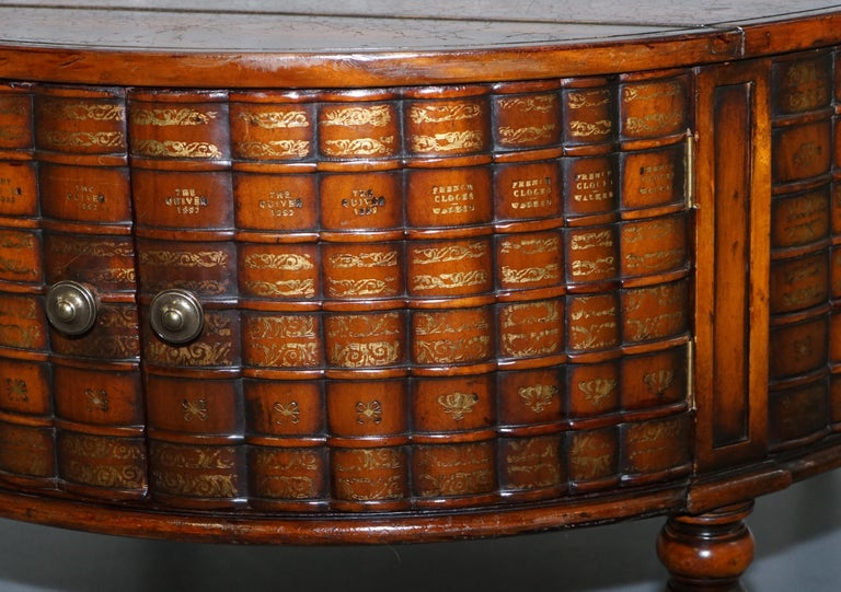 Stunning Rare Regency Style Drum Coffee Table Scholars Books Theodore Alexander For Sale 3