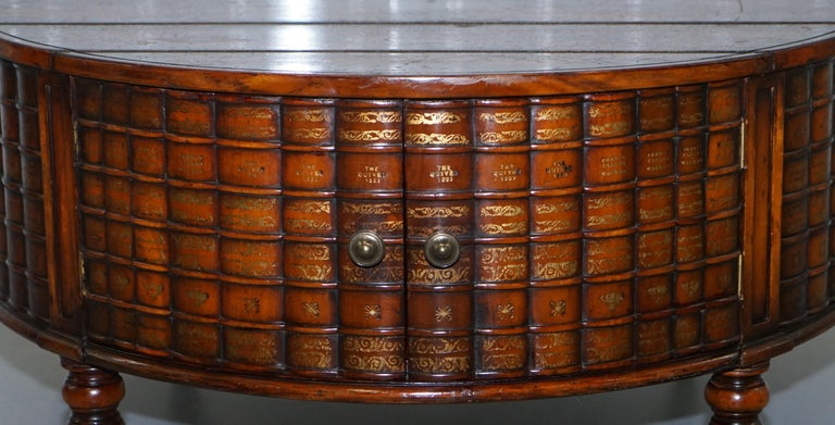 Stunning Rare Regency Style Drum Coffee Table Scholars Books Theodore Alexander For Sale 1