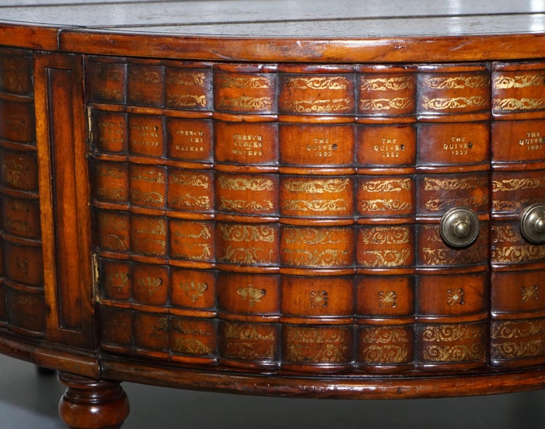 Stunning Rare Regency Style Drum Coffee Table Scholars Books Theodore Alexander For Sale 2