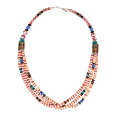 Stunning Rare Tommy Singer Three-Strand Necklace