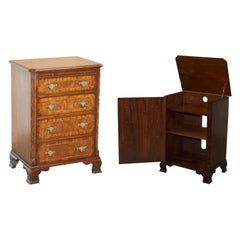 Stunning Record Player Cabinet Cupboard Hidden as Regency Chest of Drawers