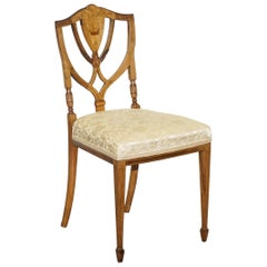 Stunning Redwood Sheraton Revival Style Occasional Chair Part Lovely Suite